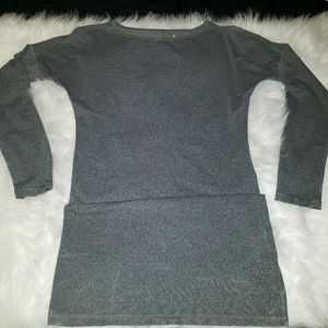 Lucy Long Sleeve Small Petite Grey Athletic top